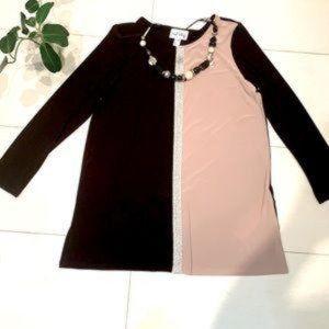 NWT 🇨🇦 Gorgeous JR black/beige/silver tunic